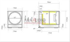 "Skema Box Subwoofer 12"" mantap | ARA AUDIO Audio, Transmission Line, Diy Speakers, Planer, Box, Cabinet, Woodworking Projects, Crates, Speaker Plans"