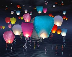 10 x Candy Color Flying Sky Lanterns  Chinese by lightsources