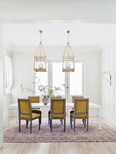 dining room with gold yellow chairs   a romantic house tour on coco kelley
