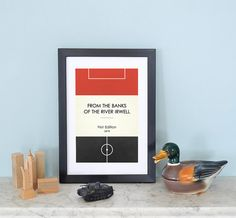 Book Clubs Man Utd A4 Football Print in red white by TommySauce, £9.50