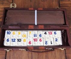 Vintage Rummy Game w/ Faux Leather Carrying Case Brown/Orange Game Night Family Fun Retro Old Fashioned Style Kids Man Gift Play Dominos by Piklandia on Etsy