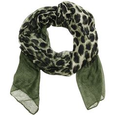 Cozy by Lulu - Ombre Leopard Army Green (20 CAD) ❤ liked on Polyvore featuring tops, ombre top, leopard print top, leopard top, olive green top and green top