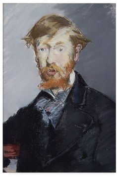 "Édouard Manet Portrait of George Moore. Pastel on canvas. An Irish critic and novelist, Moore used it as the frontispiece for his book ""Modern Painting"" Metropolitan Museum of Art, New York. Edouard Manet, Renoir, Claude Monet, Peter Paul Rubens, Edgar Degas, French Artists, Metropolitan Museum, Portraits, Art History"