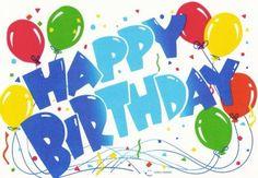 Letras Happy Birthday con globos
