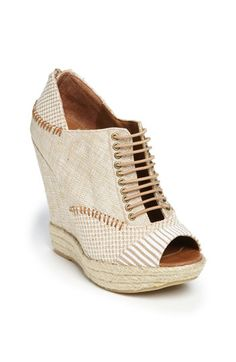 Wedges, especially a good neutral wedge. I see this going nicely with white denim
