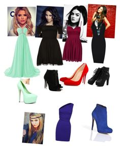 """""""pll"""" by dancemoms123lover ❤ liked on Polyvore featuring Elise Ryan, Posh Girl, Dsquared2, Christian Louboutin, Tabitha Simmons, Kiss Kouture and Nicholas Kirkwood"""