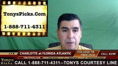 Charlotte 49ers vs. Florida Atlantic Owls Pick Prediction College Footba...
