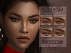 SAYASIMS ~ Eyeliner N3 3 swatches, one colour only. Female Custom Thumbnail Teen to elder HQ mod Compatible Eyeliner category TOU: Unless given permission DO NOT! - - Reupload - Claim as your own... Sims 4 Cc Kids Clothing, Sims 4 Mods Clothes, Sims Four, Sims 4 Mm, Sims 4 Couple Poses, Sims 4 Cc Eyes, The Sims 4 Skin, Sims 4 Black Hair, Sims 4 Game Mods