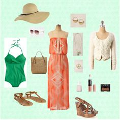 vacation outfit for beach, dinner, shopping, etc.