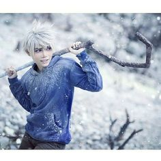 Jack Frost - Rise of the Guardians Cosplay Disney Cosplay, Anime Cosplay, Cosplay Tumblr, Epic Cosplay, Cosplay Diy, Cosplay Makeup, Amazing Cosplay, Cosplay Outfits, Halloween Cosplay