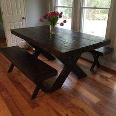 Thick Reclaimed Wood Dining Table by on Etsy Reclaimed Wood Dining Table, New Homes, Woodworking, Reno Ideas, Furniture, Pallets, Condo, Home Decor, Etsy