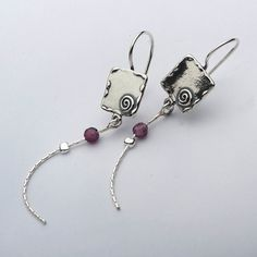 Hot Silver Earrings Hoop 4mm Round Beads Garnet Jewelry Vintage 100% Solid Fashion for Women Shablool Didae