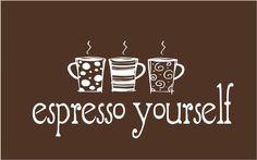 Espresso Yourself. I Love Coffee Espresso, Expresso Coffee, Coffee Cafe, Coffee Drinks, Coffee Shop, Coffee Lovers, Coffee Barista, I Love Coffee, Coffee Break