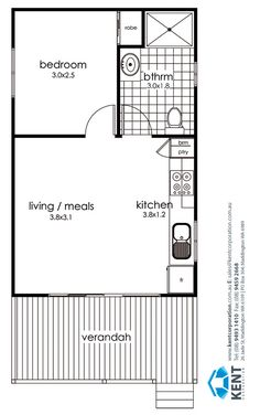 [ Grevillea Kent Corporation Leaders In Transportable ] - Best Free Home Design Idea & Inspiration 2 Bedroom House Plans, Small House Plans, House Floor Plans, Studio Apartment Floor Plans, Studio Apartment Layout, Apartment Ideas, Bungalow, House With Annex, Grandma Pods