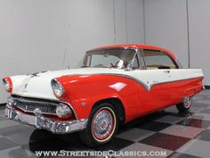 1955 Ford Victoria. i saw one of these today in black and white. i had to look away so i wouldn't wreck!