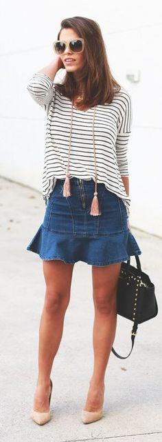 Jeans + listras