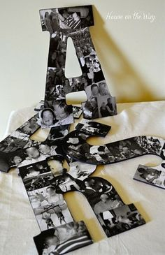 DIY Photo Collage Letters Wall Decor