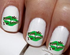 20 pc St Patricks Day Kiss Me Im Irish Kissy by EasyNailTrends