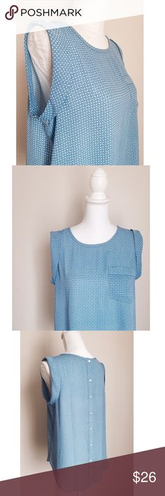 LOFT Button-Back Blouse New! ✨ Beautiful LOFT Button-Back Detailed Blouse - Cuffed hem on the sleeves as well as button detailing down the back - Beautiful piece for the office or with denim on the weekends ⚜️ Size M LOFT Tops