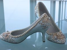 Items similar to Golden Vines Bridal Heels Wedding Shoes - Any Size - Pick your own shoe color and crystal color on Etsy Blue Bridal Shoes, Bridal Wedding Shoes, Bridal Heels, Wedding Shoes Heels, Prom Heels, Blue Shoes, Wedding Boots, Sexy Heels, Wedding Dresses
