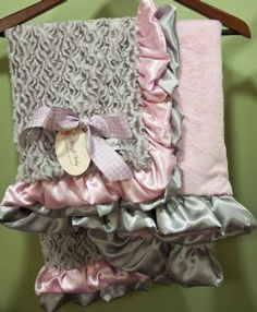 Luxury Ultra Soft Satin Trim Blanket Available in Many Colors! Great Baby Shower Gift! - Newborn Christmas Outfits - Cassie's Closet $80