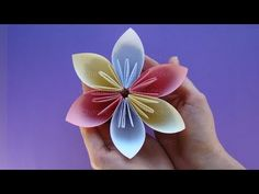 How to make flowers with paper. Flower Making, Paper Flowers, Floral, Youtube, How To Make, Crafts, Paper Envelopes, Florals, Flowers