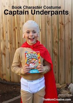 Book Character Costume: Captain Underpants. Perfect boys book character costume or Halloween costume.
