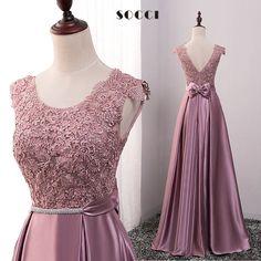 Red Crystal Sashes vestido de festa V Back Bow Party gowns