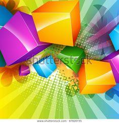 "Stock vektor ""Vector Colorful Cubes Art Design"" (bez autorských poplatků) 87820735 Cubes, Table Lamp, Colorful, Paper, Image, Design, Home Decor, Art, Art Background"