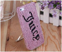 Juicy C. Pink Style Crystal Bling Snap On Hard Case for iPhone 5, Beautiful & Sumptuous