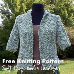 NobleKnits Knitting Blog: 07/01/2012 - 08/01/2012 Soft Frog Hoodie Free Knitting Pattern
