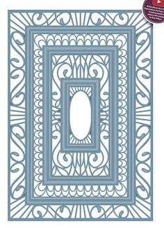 Creative Expressions Sue Wilson Die - Indian Ocean Collection - Background - CED10011 by PNWCrafts on Etsy