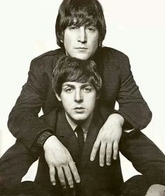 Paul McCartney and John Lennon by David Bailey 1965.