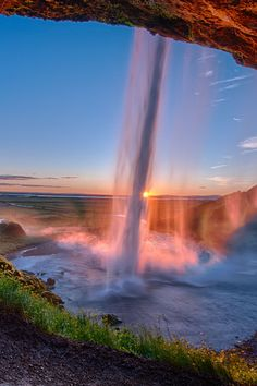 Seljalandsfoss Waterfall in South-Iceland, by Einar Gudmann, on flickr. (Trimming)