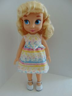 Knit Dress for 16 Disney Animator doll and by toyestinytreasures Disney Animator Doll, Disney Dolls, Disney Animators Collection Dolls, Cinderella Doll, Collector Dolls, Girl Dolls, Barbie, Knit Dress, American Girl