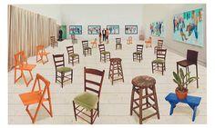 David Hockeney, Sparer Chairs, 2014