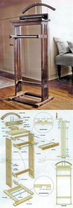 Suit Valet Stand Plans - Woodworking Plans and Projects | WoodArchivist.com
