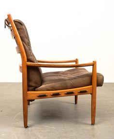Ingemar Thillmark; Beech and Leather 'Läckö' Armchair for OPE, c1960.