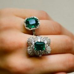 Emeralds are so classy and will never go out of style.