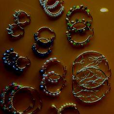 Beaded hoop earrings!