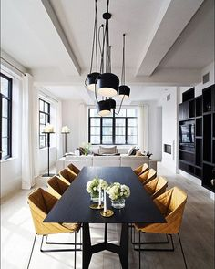 Piet Boon's Huys apartment featuring Kekke dining chairs, just landed at @eccnewzealand #PietBoon #Huys #NewYork #apartment #design #kekke