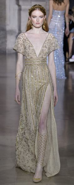 Georges Hobeika Spring 2018 Couture Fashion Show - The Impression Haute Couture Style, Couture Mode, Couture Fashion, Runway Fashion, Couture Week, Lolita Fashion, Emo Fashion, Georges Hobeika, Fashion Week