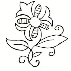 Elizabethan Pattern - Gillyflower ~ The Needles Excellency Crewel Embroidery, Embroidery Patterns, Medieval Hats, Paint Shirts, Flower Sketches, Renaissance, Embroidery Techniques, Blackwork, Needlework