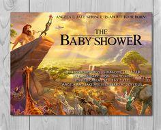 Lion King Baby Shower Invitation, Jungle Invitation, Disney Invite, Lion Invitation, Lion King, Simba, Rafiki by Printadorable on Etsy