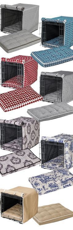 ♥ Dog Stuff ♥ Spruce up your dog's home with our selection of designer crate covers and crate mattresses. Not only offering a refined look, crate covers and mattresses make a wire crate more comfortable and secure for your dog.