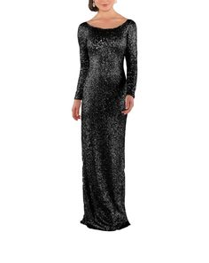 A long sleeve black sequined bridesmaid dress. Because strapless? Get this Sorella Vita sequined bridesmaid dress at Brideside. Black Bridesmaids, Black Bridesmaid Dresses, Bodice, Neckline, Black Velvet, Sequins, Formal, Long Sleeve, Sweaters