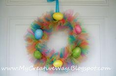 DIY Tutu Easter Wreath