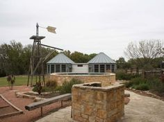 Hill Country Bungalow, near Luckenbach, TX -- swimming pool built to look like an old stock tank