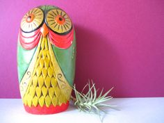 Mod 60's Pop art Owl Bank Fitz and floyd by VintageParamour, $36.00