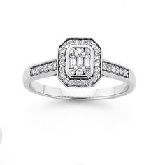9ct White Gold Diamond Engagement Ring..this is my future.. When u trust God he makes dreams come true..15.2.2016